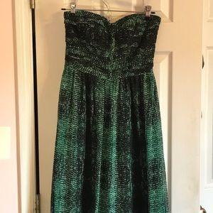 Anthropologie Floor Length Printed Dress